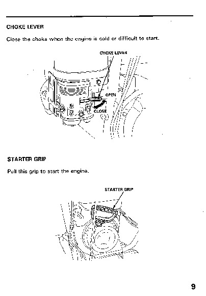 Honda HS80 Snow Blower Owners Manual