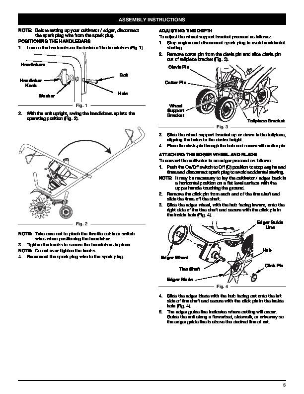 MTD Troy-Bilt TB144 4 Cycle Gardern Cultivator Lawn Mower