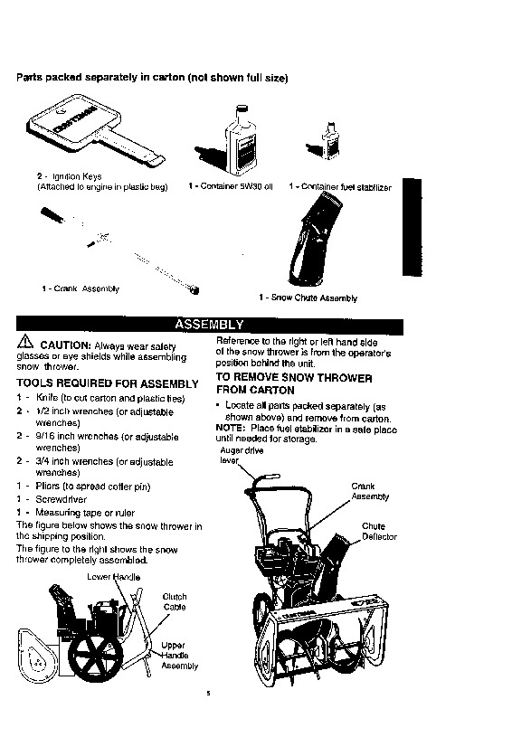 Craftsman 536.884790 22-Inch Snow Blower Owners Manual