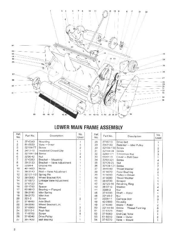 Toro 38000 S-120 Snowblower Manual, 1987-1988
