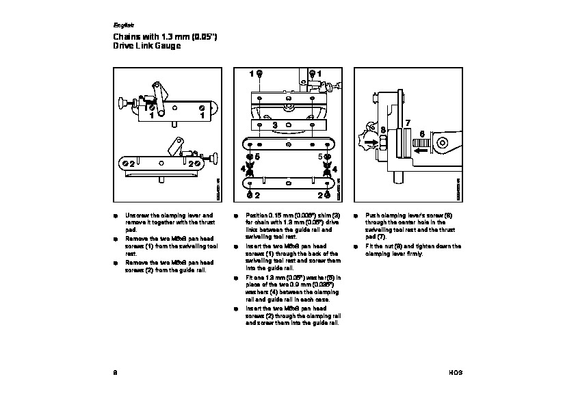 STIHL Chainsaw Filing Unit HOS Owners Manual