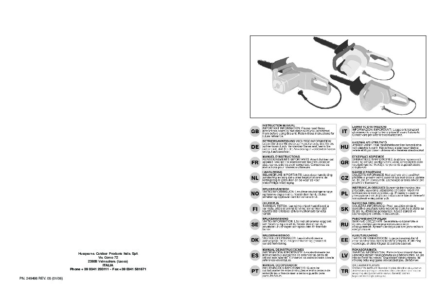 McCulloch Electramac 1435 ES1814 ESV1750 14 ES1816 ESR1750