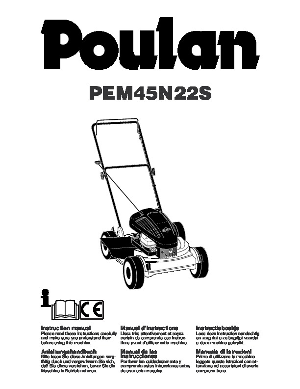 Poulan PEM45N22S Lawn Mower Owners Manual, 2005