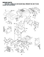 Weed Eater GE1138 SN1138A Lawn Tractor Repair Manual, 2002