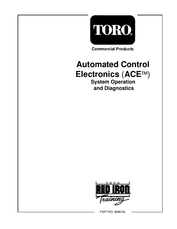 Toro Commercial Products Automated Control Electronics