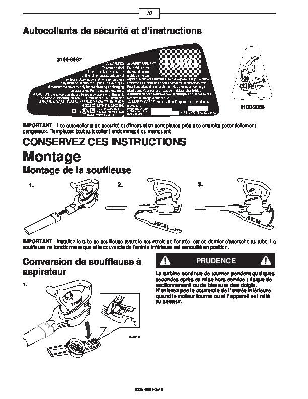 Toro 51573 Rake and Vac Blower Operators Manual, 2001-2004