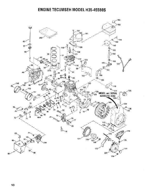 Toro 38035 3521 Snowblower Parts Catalog, 1988