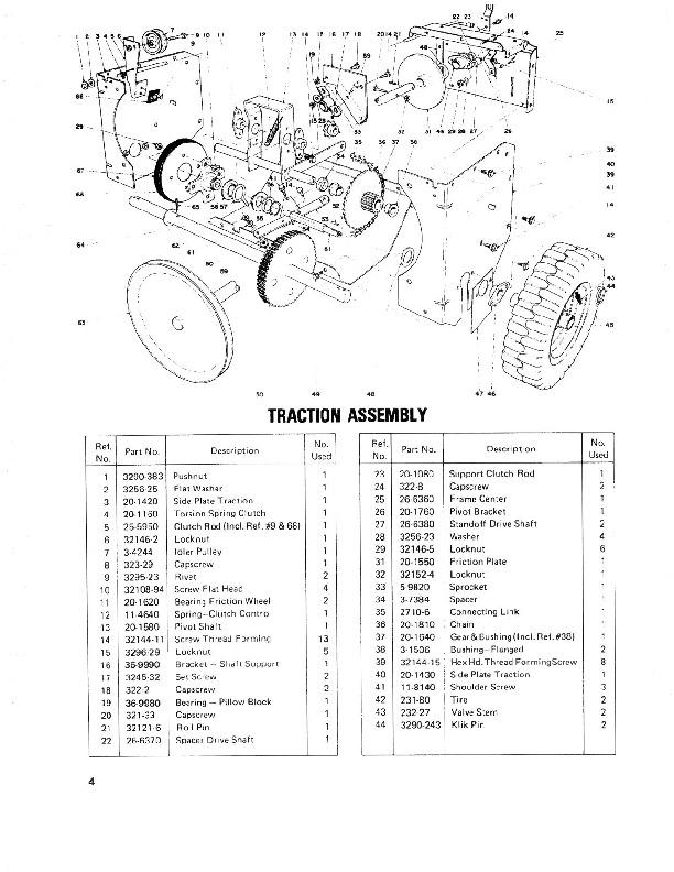Toro 38050 724 Snowblower Parts Catalog, 1979