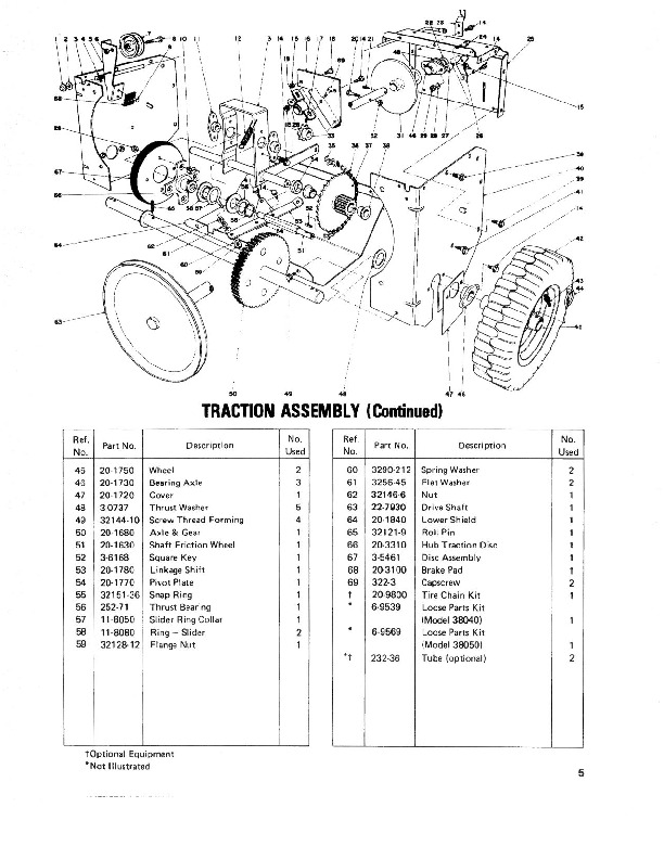 Toro 38040 524 Snowblower Parts Catalog, 1979