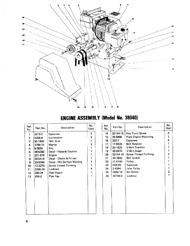 Toro 38050 724 Snowblower Parts Catalog, 1979