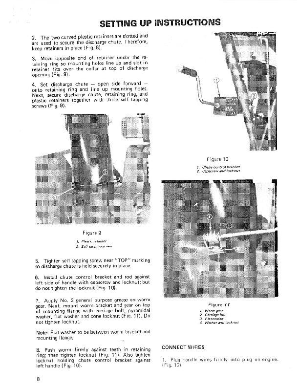 Toro 38040 524 Snowblower Operators Manual, 1981, 1984