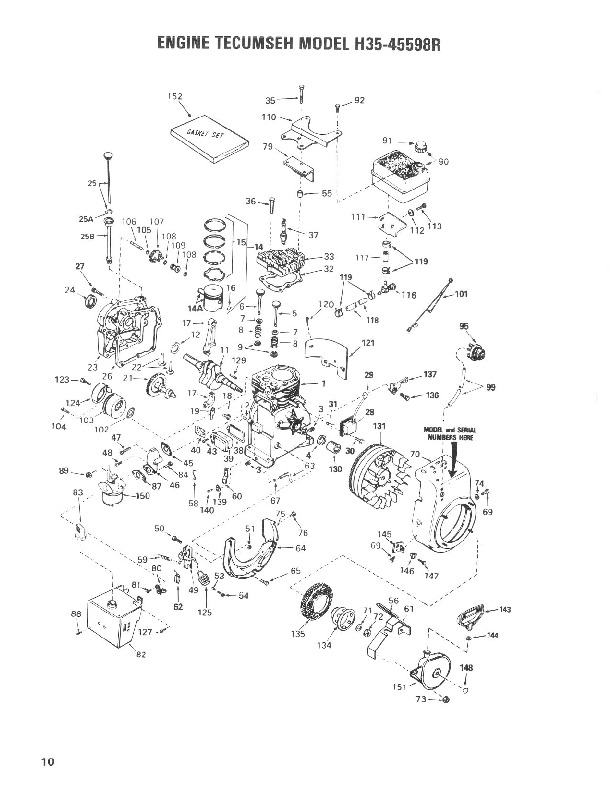 Toro 38035 3521 Snowblower Parts Catalog, 1987