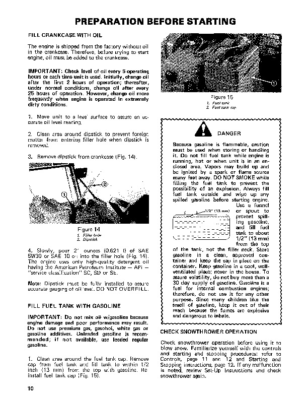Toro 38010 421 Snowblower Manual, 1981