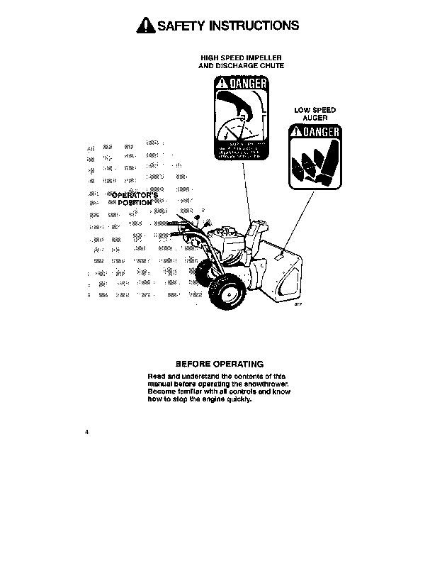 Toro 38054 521 Snowblower Operators Manual, 1992