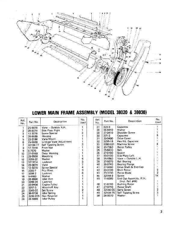 Toro 38030 Snow Master 20 Parts Catalog, 1978