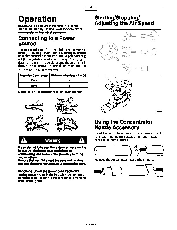 Toro 51591 Super Blower/Vacuum Operators Manual, 2005-2007