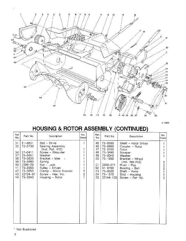 Toro 51547 700 Rake-O-Vac Parts Catalog, 1993