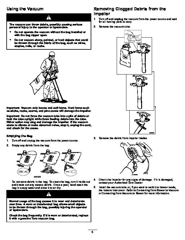 Toro 51599 Ultra Blower/Vacuum Operators Manual, 2007-2012