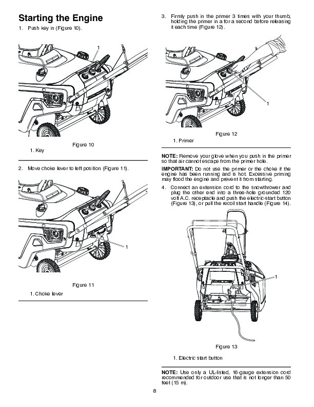 Poulan Pro PR621ES 436439 Snow Blower Owners Manual