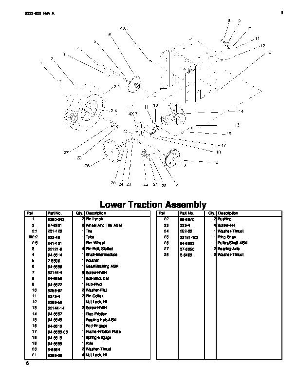 Toro 38053 824 Power Throw Snowblower Parts Catalog, 2000-2003