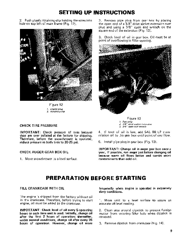 Toro 38050 724 Snowblower Operators Manual, 1981