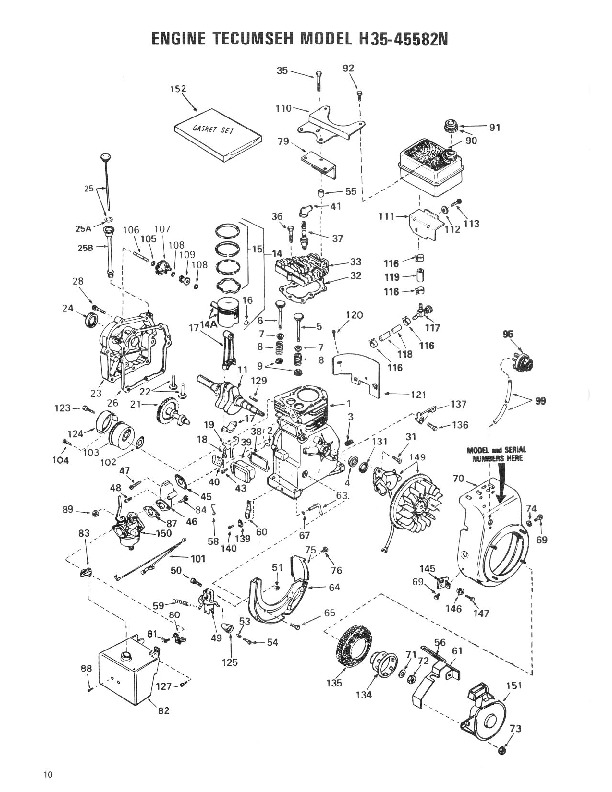 Toro 38035 3521 Snowblower Manual, 1984