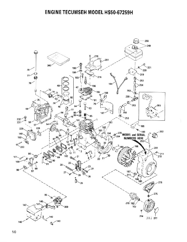 Toro 38052C 521 Snowblower Parts Catalog, 1998-1989