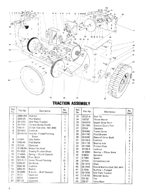 Toro 38040 38050 524 724 Snowblower Parts Catalog, 1981, 1984