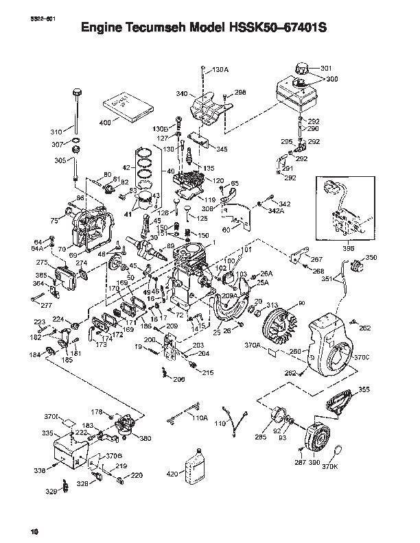 Toro 38051 522 Snowblower Parts Catalog, 2000