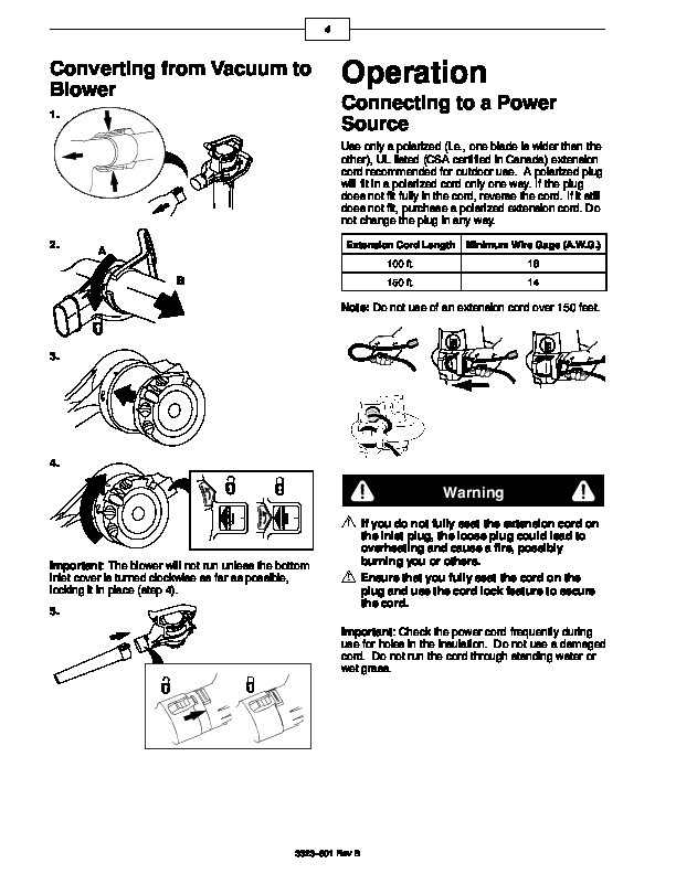 Toro 51553 Rake and Vac Blower Operators Manual, 2000