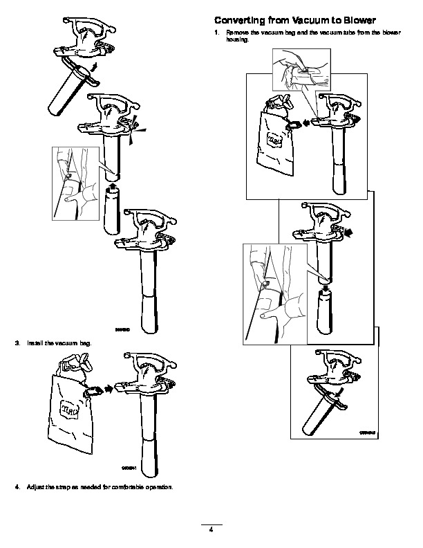 Toro 51574 Rake and Vac Blower/Vacuum Operators Manual