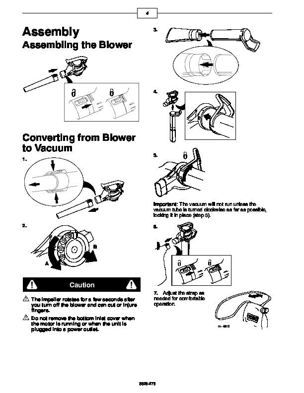 Toro 51521 Super Blower Vac Manual, 2000