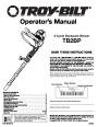 Troy-Bilt Blower and Vacuum Manuals