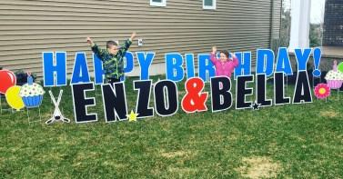 Happy Birthday Enzo and Bella!