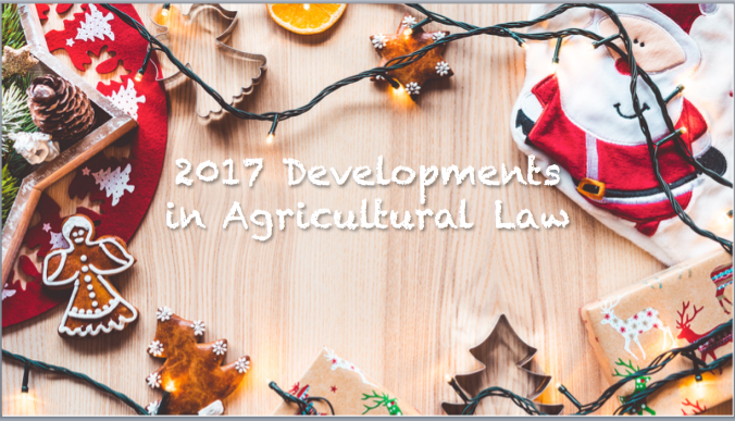 2017 ag law developments