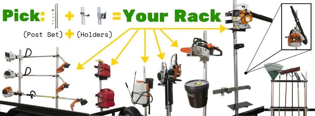 trailer racks lawn crack