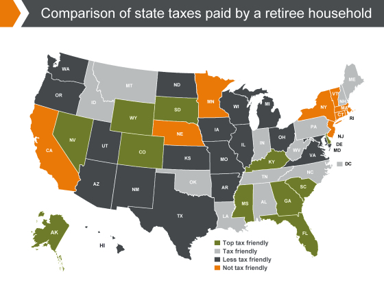 States With the Highest (and Lowest) Taxes for Retirees