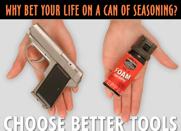 Handgun? Pepper Spray? Both?
