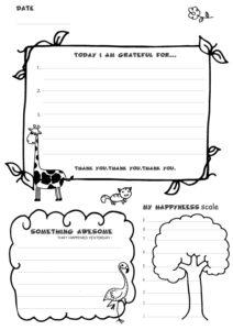 FREE Gratitude Journal for Kids