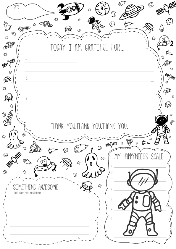 FREE Gratitude Journal for Kids