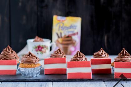 Schokoladen Vanille Cupcakes