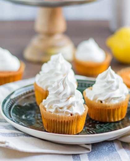 Mile-High Lemon Meringue Cupcakes