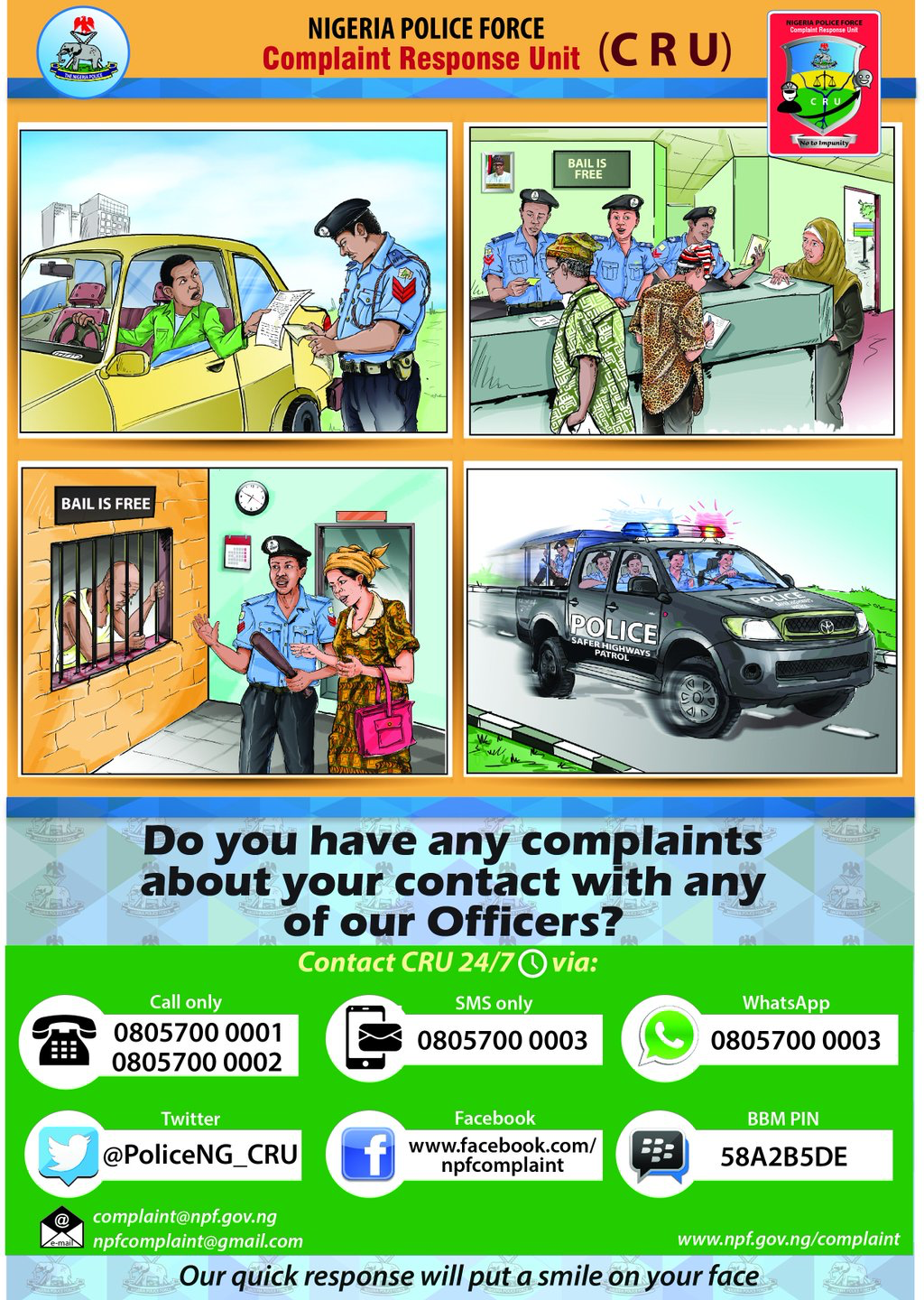 How to complain about a policeman in Nigeria