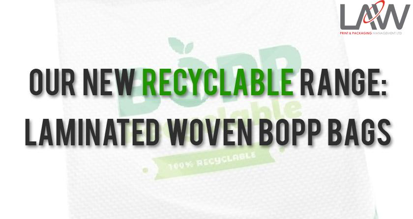 BOPP Bags, recyclable, flexible