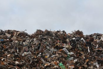 Sustainability - recyclable plastic ends up in landfill