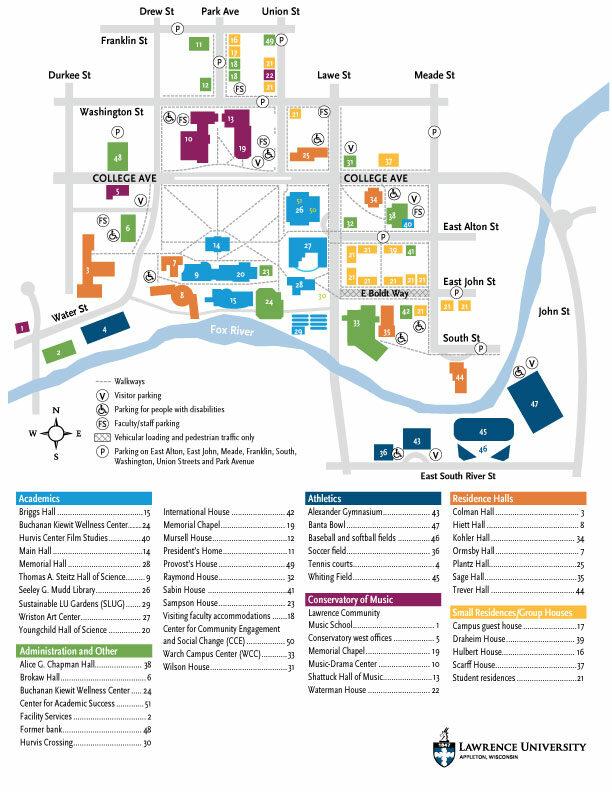 Drew University Map : university, Lawrence, University