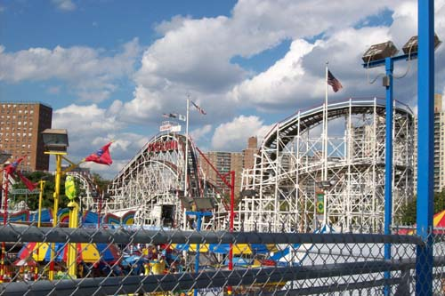 The World Famous Cyclone (side view) - founded 1927