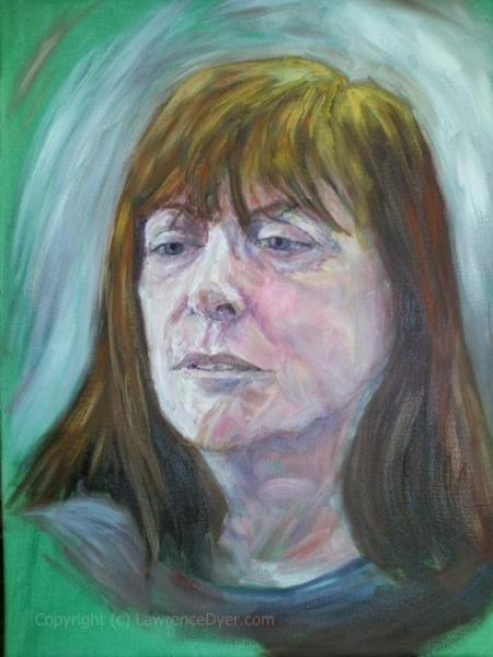 Portrait of a Midwife by Lawrence-Dyer-co-uk oils-P72011url