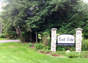 Sign for the mothballed Brook Lodge