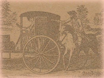 old print of a highwayman robbing a carriage